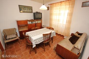 Ustrine, Dining room in the house, dopusteni kucni ljubimci.