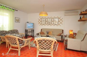 Sveti Jakov, Living room in the apartment, dostupna klima, dopusteni kucni ljubimci i WIFI.
