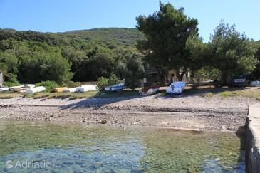 Merašćica, Cres, Objekt 8071 - Ubytování v blízkosti moře s oblázkovou pláží.