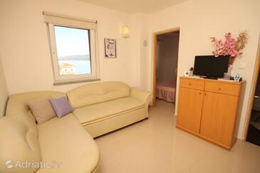 Valun, Obývací pokoj v ubytování typu apartment, WiFi.