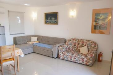 Valun, Гостиная в размещении типа apartment, доступный кондиционер и WiFi.