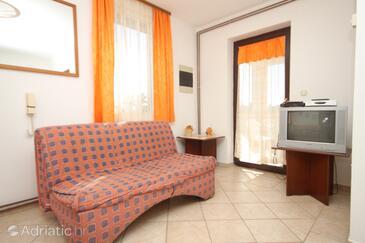 Mali Lošinj, Camera di soggiorno nell'alloggi del tipo apartment, condizionatore disponibile, animali domestici ammessi e WiFi.