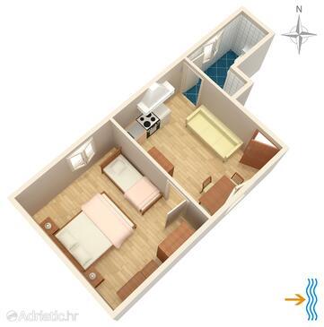 Beli, План в размещении типа apartment, Домашние животные допускаются и WiFi.
