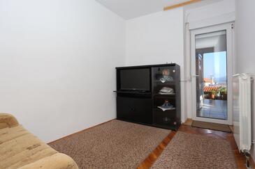 Božava, Living room in the apartment, dopusteni kucni ljubimci i WIFI.