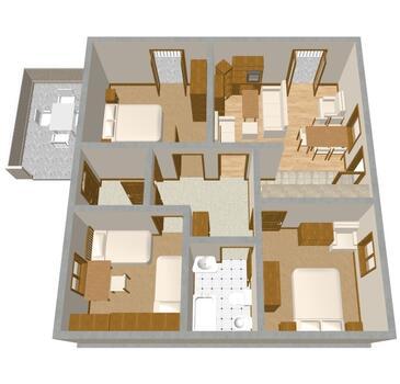 Tisno, Nacrt u smještaju tipa apartment, kućni ljubimci dozvoljeni i WiFi.