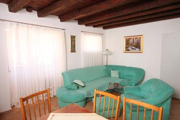 Sali, Obývacia izba v ubytovacej jednotke house, dopusteni kucni ljubimci.