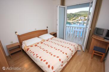 Zaglav, Ložnice v ubytování typu room, s klimatizací a WiFi.