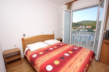 Zaglav, Ložnice v ubytování typu room, s klimatizací, domácí mazlíčci povoleni a WiFi.