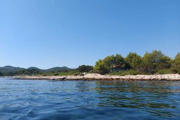 Krknata, Dugi otok, Objekt 8150 - Kuća za odmor blizu mora.