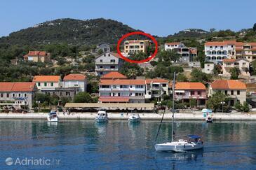 Sali, Dugi otok, Property 8152 - Apartments with pebble beach.