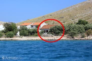 Suha Punta, Kornati, Объект 8168 - Дом для отдыха вблизи моря со скалистым пляжем.