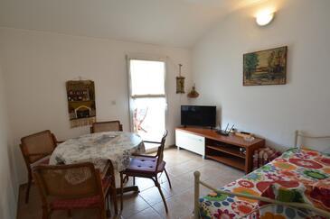 Zaglav, Jídelna v ubytování typu apartment, domácí mazlíčci povoleni a WiFi.