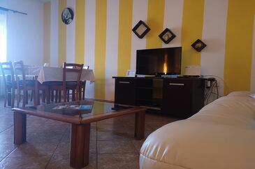 Preko, Obývacia izba v ubytovacej jednotke apartment, dopusteni kucni ljubimci.