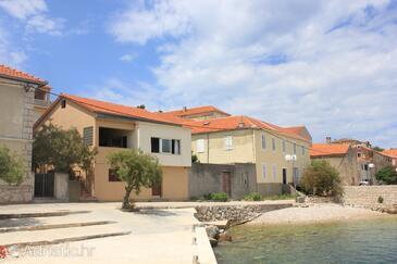 Sali, Dugi otok, Objekt 8194 - Ubytování v blízkosti moře s oblázkovou pláží.