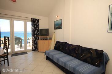 Banj, Obývací pokoj v ubytování typu apartment, s klimatizací a WiFi.