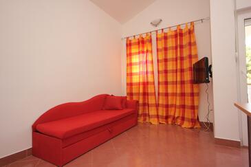 Pašman, Pokój dzienny w zakwaterowaniu typu apartment, dostupna klima i dopusteni kucni ljubimci.