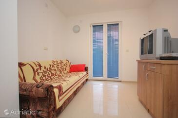 Pašman, Living room in the apartment, dopusteni kucni ljubimci.