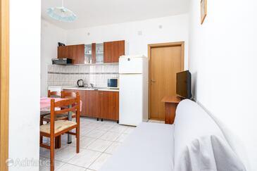 Pašman, Obývací pokoj v ubytování typu apartment, WiFi.