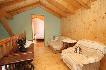 Soline, Obývacia izba v ubytovacej jednotke house, dopusteni kucni ljubimci.