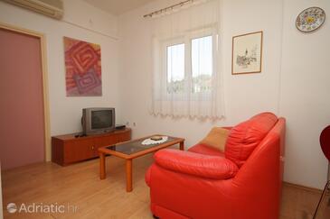 Preko, Living room in the apartment, dostupna klima, dopusteni kucni ljubimci i WIFI.