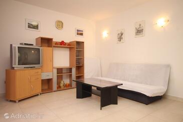 Kukljica, Living room in the apartment, dopusteni kucni ljubimci i WIFI.