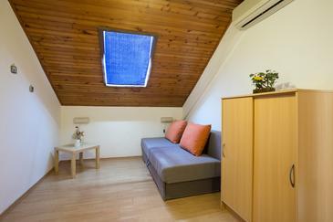 Ugljan, Dnevna soba v nastanitvi vrste apartment, dostopna klima in WiFi.