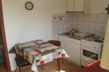Ugljan, Sala da pranzo nell'alloggi del tipo apartment, animali domestici ammessi e WiFi.