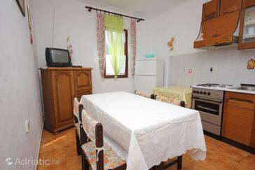 Mala Lamjana, Jídelna v ubytování typu apartment, s klimatizací a WiFi.