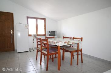 Ždrelac, Dining room in the apartment, dopusteni kucni ljubimci.