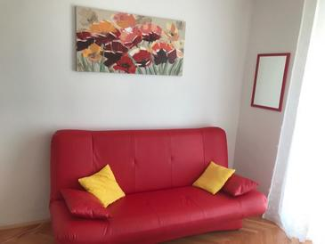 Preko, Dnevna soba v nastanitvi vrste apartment, dostopna klima.