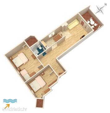 Dobropoljana, План в размещении типа apartment, WiFi.