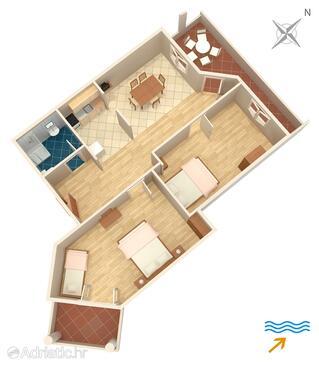 Dobropoljana, Plan in the apartment, WiFi.
