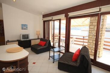 Primošten, Living room in the apartment.