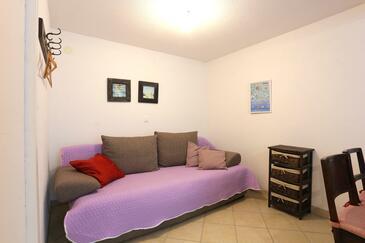 Igrane, Wohnzimmer in folgender Unterkunftsart house, Haustiere erlaubt und WiFi.