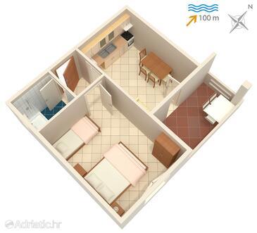 Kali, Nacrt u smještaju tipa apartment, kućni ljubimci dozvoljeni i WiFi.