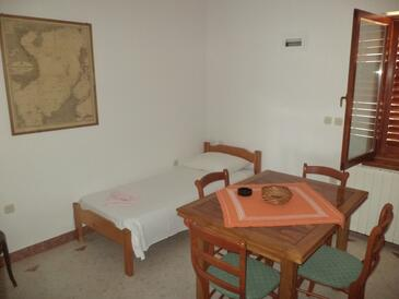 Zaklopatica, Dining room in the apartment, (pet friendly) and WiFi.