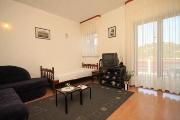 Zaklopatica, Obývacia izba v ubytovacej jednotke apartment, WiFi.
