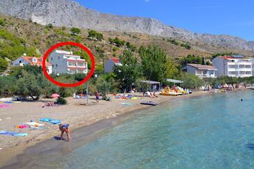 Duće, Omiš, Objekt 8378 - Ubytování v blízkosti moře s písčitou pláží.