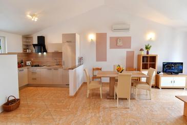 Preko, Jedilnica v nastanitvi vrste apartment, dostopna klima in WiFi.