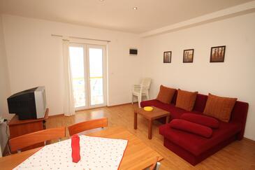 Preko, Dnevna soba v nastanitvi vrste apartment, dostopna klima, Hišni ljubljenčki dovoljeni in WiFi.