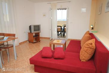 Preko, Living room in the apartment, dopusteni kucni ljubimci i WIFI.