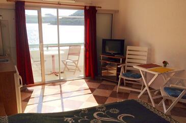 Pasadur, Jídelna v ubytování typu studio-apartment, s klimatizací a WiFi.