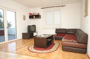 Neviđane, Living room in the apartment.
