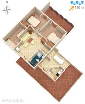 Tkon, План в размещении типа apartment.