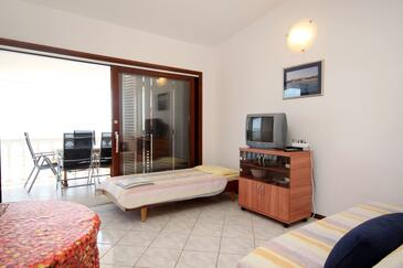 Ždrelac, Obývacia izba v ubytovacej jednotke apartment, dopusteni kucni ljubimci i WIFI.
