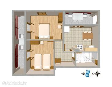 Sušica, План в размещении типа apartment, Домашние животные допускаются и WiFi.