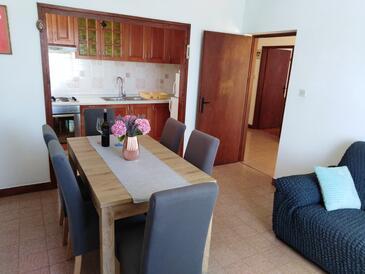 Tkon, Jídelna v ubytování typu apartment, s klimatizací, domácí mazlíčci povoleni a WiFi.