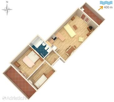 Ždrelac, План в размещении типа studio-apartment, WiFi.