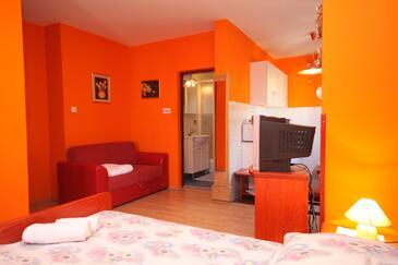 Preko, Dnevna soba v nastanitvi vrste studio-apartment, Hišni ljubljenčki dovoljeni in WiFi.