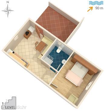 Kali, Alaprajz szállásegység típusa house, háziállat engedélyezve és WiFi .